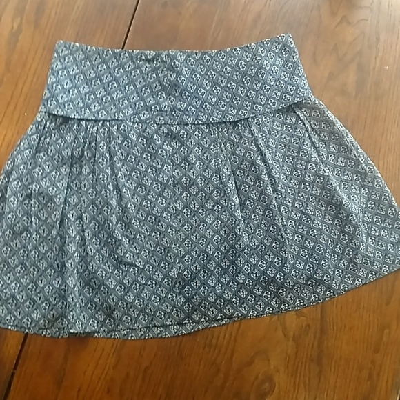 Madewell Dresses & Skirts - Madewell Size 2 Silk Navy & White Mini Skirt